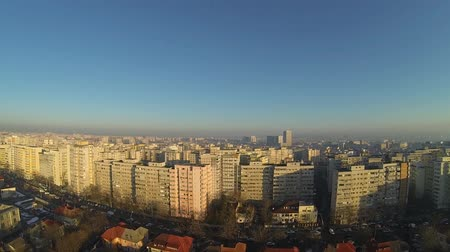 neighbor : Aerial view of Bucharest, Romania, shot from a drone