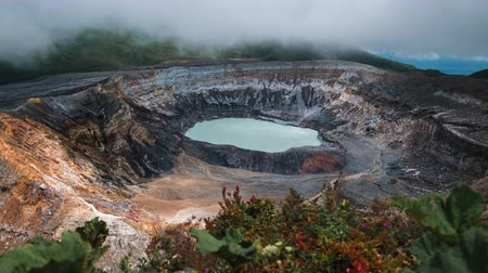 bitki : Main active crater of the volcano of Poas. Costa Rica of Poas. Costa Rica