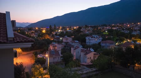 Night to day timelapse of the city of Oludeniz, Fethiye Turkey Wideo
