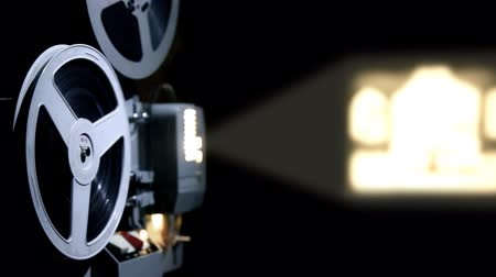 projetor : old projector showing film