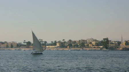 aswan : boats on Nile River in Luxor, Egypt