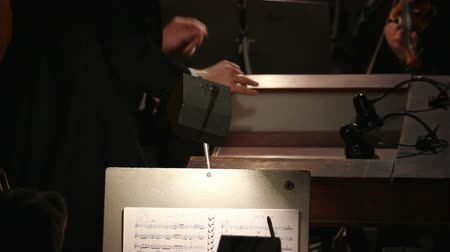 kondüktör : the hands of a man who conducts the orchestra