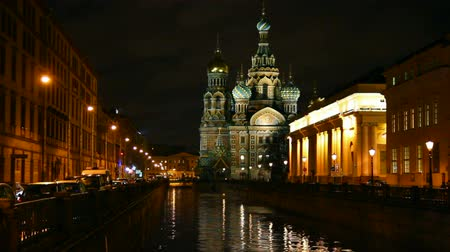 jezus : Savior on Blood - Christ the Savior Cathedral in St. Petersburg at night