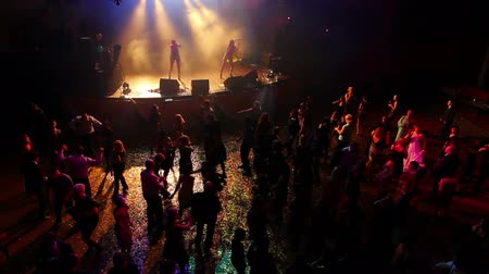 rock concert : People dancing on party - timelapse Stock Footage