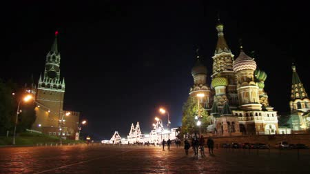 kreml : Kremlin and temple on Red square in Moscow Dostupné videozáznamy