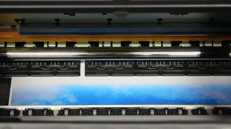 printings : Inkjet printer color photo prints - timelapse Stock Footage