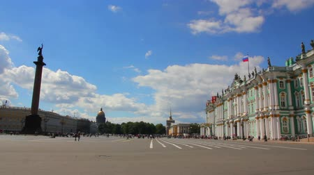 alexander column : Hermitage and Palace Square in St. Petersburg
