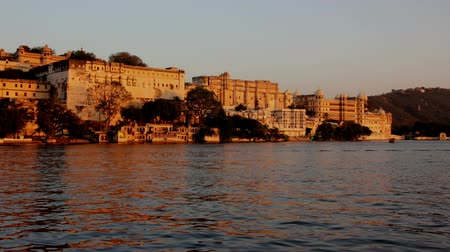 pichola : night follows day - palace on lake in Udaipur India