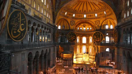 catedral : hagia sofia museum interior in istanbul turkey
