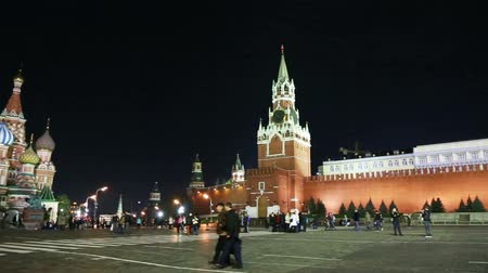 moscow night : panorama of Red square in Moscow Russia