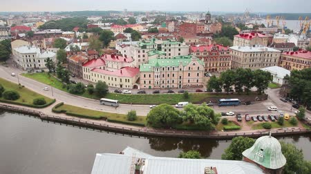 ruský : Vyborg in Russia - view from height of medieval tower of St. Olaf Dostupné videozáznamy