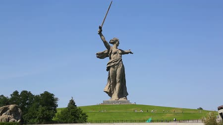 kard : monument of Motherland Calls in Mamayev Kurgan memorial complex in Volgograd (former Stalingrad)