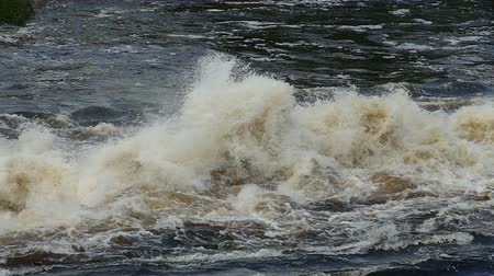 river ocean : bursts and splashes of a seething water, slow motion