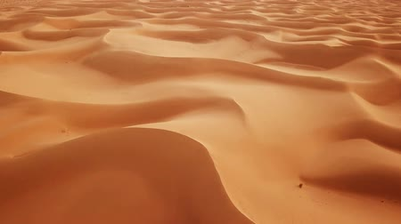 namibya : Aerial top view on sand dunes in Sahara desert, Africa