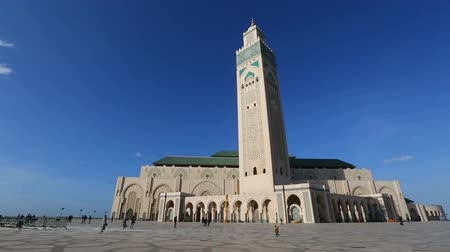 mesquita : Panorama view of Hassan II mosque in Casablanca, Morocco