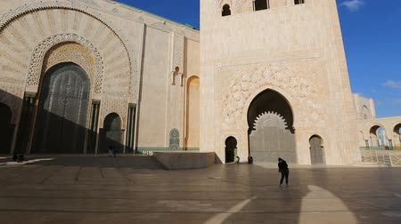 biggest : Panorama view of Hassan II mosque in Casablanca, Morocco