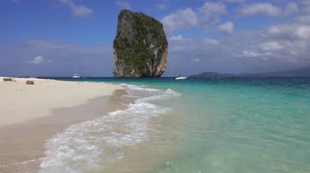 Landscape on tropical Poda island in Thailand, 4k Stock Footage