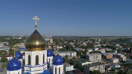 hemelvaart : Aerial view of Ascension Cathedral, 4k