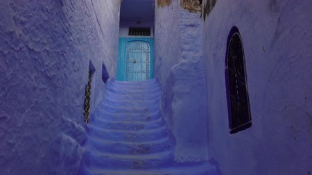 moroccan : Blue stairs, Medina of Chefchaouen, Morocco