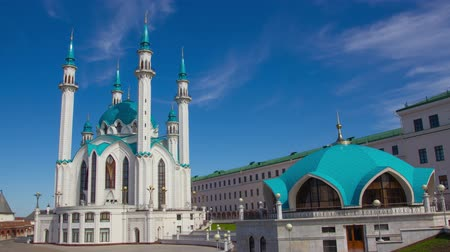 kul : Kul Sharif mosque in Kazan kremlin, Russia, zoom in timelapse 4k Stock Footage