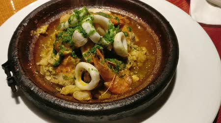 pimentas : Morocco traditional dish of seafood