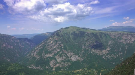 bosnia and herzegovina : Canyon in Durmitor National Park, Montenegro, 4k Stock Footage