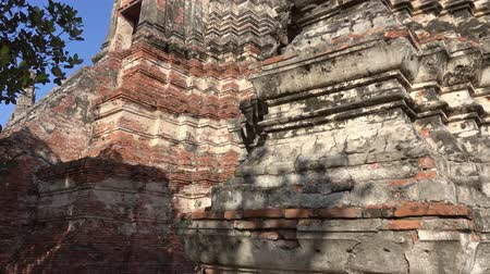 bricks : Wat Chaiwatthanaram in Ayuthaya, Thailand, tilt view 4k