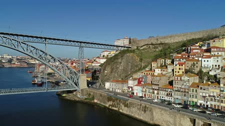 dom : Aerial panorama of the city of Porto, Portugal, 4k Stock Footage