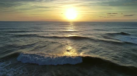 přešel : Atlantic ocean and sunset sun, 4k