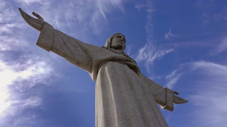 portugál : Christ the King Statue, Lisbon, Portugal, 4k