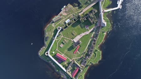 defensiva : Aerial view of the island of Neva river