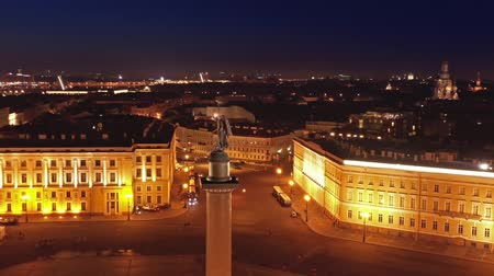 alexander column : Aerial view of Alexander Column on Palace Square