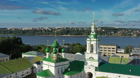 bank tower : Aerial view of ancient Gostiny Dvor in Kostroma