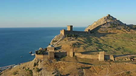 krím : Aerial view of ancient Genoese fortress in Crimea