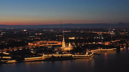 bástya : Aerial view of Peter and Paul Fortress in Russia