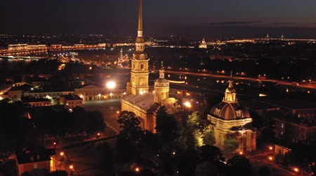 ピーター : Aerial view of Peter and Paul Fortress in Russia