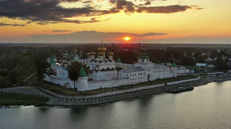 cupola : Ipatievsky Monastery in Kostroma at sunset Russia