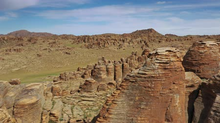 stacked rock : Rock formations in Gobi desert Mongolia