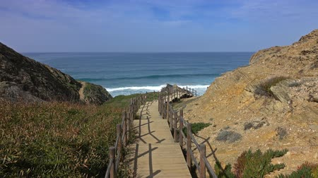 lagos : Stairs to beach on Algarve Coast in Portugal