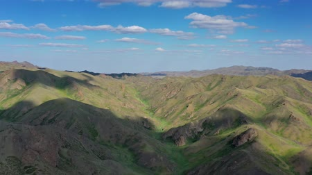 овраг : Aerial view of mountains landscape in Mongolia