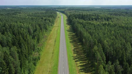 мостовая : Aerial top view of country road in forest