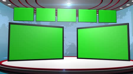video effects : Television chroma key greenscreen