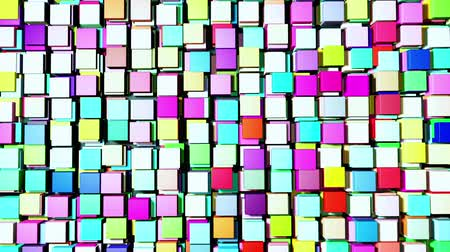 blokkok : Abstract cubes Stock mozgókép