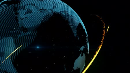 Blue Planet earth and connections Stock Footage