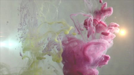 Abstract background ink and oil Stock Footage