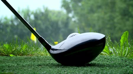 swing : Hitting a golf ball Stock Footage
