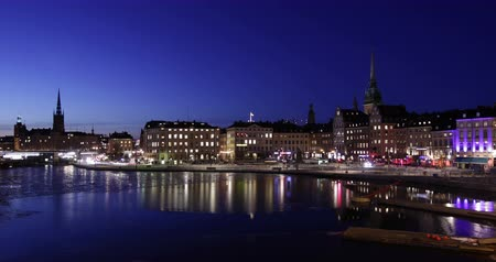 capital cities : Stockholm city at night