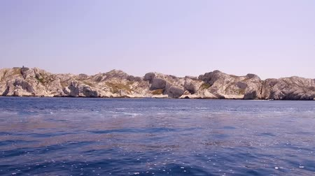 işe : Marseille, France, Island of Friuli and If Castle, view from a boat