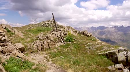 Travel on Hiking on Rocky Mountain in French Alps - Footage video
