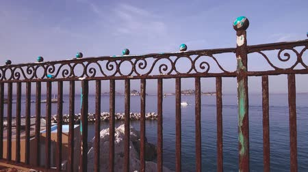 Barier rusted by the sea and storms - Marseille mediterranean coastline